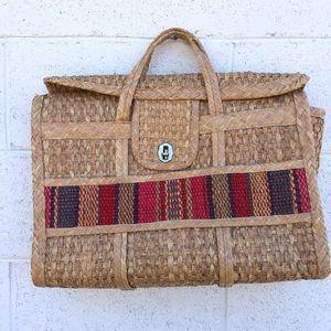 Large Woven Rattan Basket Bag